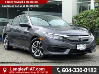 Used 2017 Honda Civic LX NO ACCIDENTS, B.C OWNED! for sale in Surrey, BC