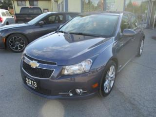 Used 2013 Chevrolet Cruze LOADED 2-LT EDITION 5 PASSENGER 1.4L - TURBO.. LEATHER.. HEATED SEATS.. CD/AUX/USB INPUT.. KEYLESS ENTRY.. for sale in Bradford, ON