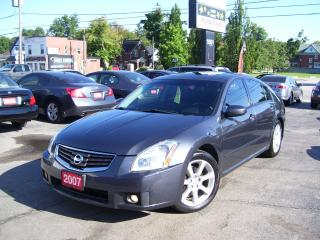 Used 2007 Nissan Maxima 3.5 S,Navi,Leather,Alloys,Sunroof for sale in Kitchener, ON