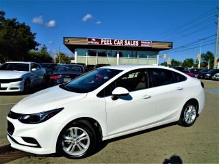 Used 2017 Chevrolet Cruze 2017 CHEVY CRUZE LT|REARVIEW|37K|WHITE ON BLACK| for sale in Mississauga, ON