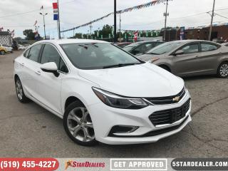 Used 2017 Chevrolet Cruze Premier | LEATHER | CAM | ONE OWNER for sale in London, ON