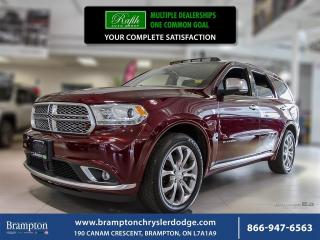Used 2017 Dodge Durango CITADEL AWD | PLATINUM APPEARANCE PACKAGE for sale in Brampton, ON