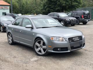 Used 2008 Audi A4 LOW KMS 2.0T S-Line Quattro AWD Leather Sunroof for sale in Holland Landing, ON