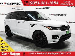 Used 2016 Land Rover Range Rover Sport V8 Supercharged Autobiography| DVD| RED LEATHER| for sale in Burlington, ON