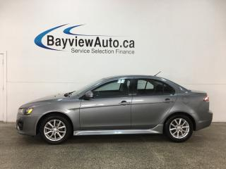Used 2017 Mitsubishi Lancer ES - ALLOYS! HTD SEATS! A/C! REVERSE CAM! CRUISE! for sale in Belleville, ON