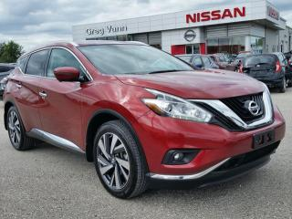 Used 2016 Nissan Murano PLATINUM AWD w/all leather,NAV,climate ctrl,rear cam,heated seats,panoramic roof for sale in Cambridge, ON