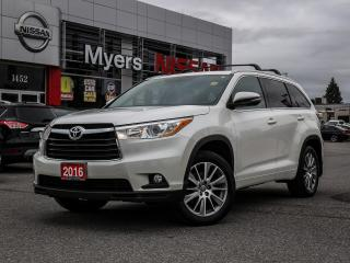 Used 2016 Toyota Highlander XLE AWD sunroof, leather, reverse camera, electric seat, lumbar support, heated seat, nav, CD, intelligent key for sale in Orleans, ON