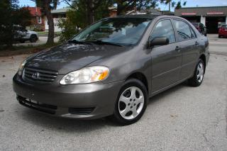 Used 2004 Toyota Corolla CE for sale in Mississauga, ON