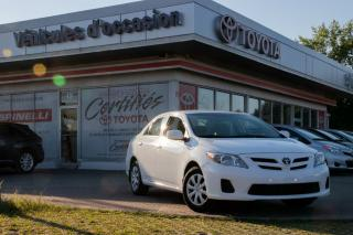 Used 2013 Toyota Corolla 5 Vit. De Base Aa for sale in Pointe-claire, QC