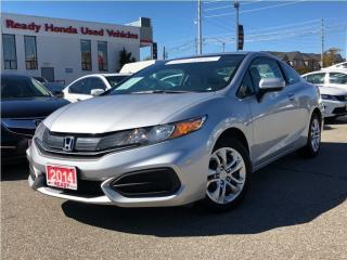 Used 2014 Honda Civic COUPE LX - Bluetooth - Heated Seats for sale in Mississauga, ON