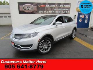 Used 2016 Lincoln MKX Reserve  HTD-S/W CS HS-REAR RAIN-SENS NAV ROOF CAM P/GATE for sale in St. Catharines, ON