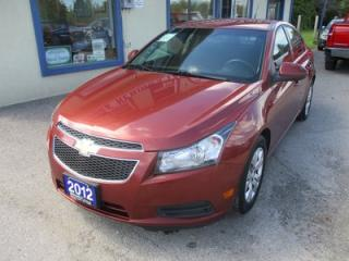 Used 2012 Chevrolet Cruze 'GREAT VALUE' 1-LT EDITION 5 PASSENGER 1.4L - TURBO.. CD/AUX/USB INPUT.. KEYLESS ENTRY.. for sale in Bradford, ON