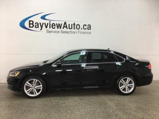 Used 2014 Volkswagen Passat 1.8 TSI Comfortline - TURBO! SUNROOF! TINT! HTD LTHR! BLUETOOTH! for sale in Belleville, ON