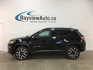Used 2017 Jeep Compass Limited - REM START! PANOROOF! NAV! U-CONNECT! HTD LTHR! PWR LIFTGATE! for sale in Belleville, ON