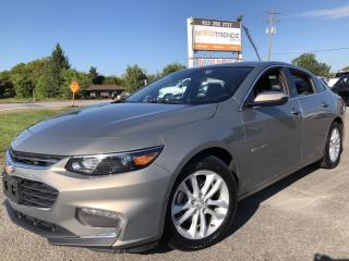 Used 2017 Chevrolet Malibu 1LT Nice! With BackupCam, Bluetooth and Pwr Group! Alloys with Pushbutton Start and Steering Wheel Contr for sale in Kemptville, ON