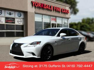Used 2015 Lexus IS 250 F Sport, Navigation, Red Int, No Accidents for sale in Toronto, ON