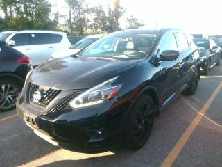 Used 2018 Nissan Murano Midnight Edition DUAL CLIMATE | HEATED SEATS | PUSH TO START | NAV | BACK UP CAM | LEATHER for sale in Kingston, ON