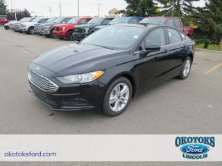 New 2018 Ford Fusion SE 2.5L Ti-VCT engine, Navigation, Heated Seats, Cruise, Keyless Entry, Backup Cam for sale in Okotoks, AB