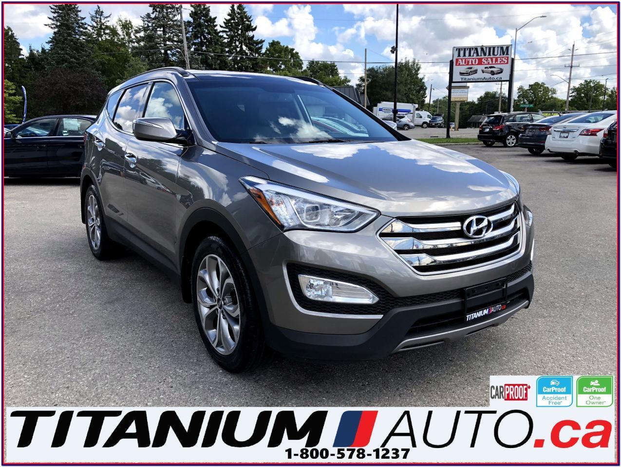 2015 Hyundai Santa Fe Limited-AWD-GPS-Camera-Pano Roof-Vented Leather-XM