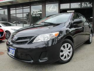 Used 2013 Toyota Corolla power-sunroof-a/c-power-group for sale in Scarborough, ON