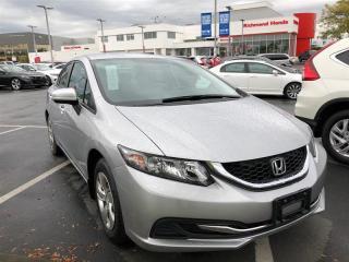 Used 2014 Honda Civic SEDAN LX for sale in Richmond, BC