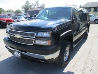 Used 2006 Chevrolet Silverado 2500 3/4 TON DIESEL LOADED LT MODEL 5 PASSENGER 6.6L - DURAMAX.. 4X4.. CREW.. SHORTY.. LEATHER.. NAVIGATION.. HEATED SEATS.. for sale in Bradford, ON