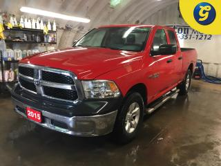Used 2015 RAM 1500 SXT*QUAD CAB*4X4*5.7L HEMI VVT V8 with FuelSaver MDS*TUBLAR STEP BARS*BEDLINER*U CONNECT*HANDS FREE STEERING WHEEL*PHONE CONNECT*BED LINER* for sale in Cambridge, ON