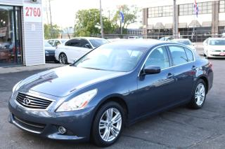 Used 2013 Infiniti G37 X Luxury 78000 Kms, Camera, Roof, No Accident for sale in Toronto, ON
