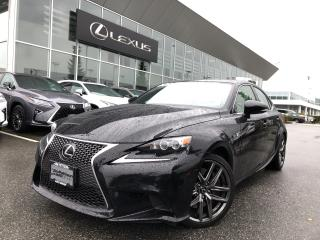 Used 2016 Lexus IS 350 F Sport Series 3, Local, ONE Owner for sale in North Vancouver, BC