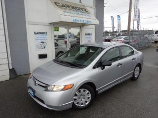 Used 2007 Honda Civic DX-G Sedan, 5 Speed Manual, A/C, Power Group for sale in Langley, BC