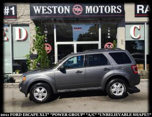 Used 2011 Ford Escape XLT*POWER GROUP*A/C*UNBELIEVABLE SHAPE!!* for sale in Toronto, ON