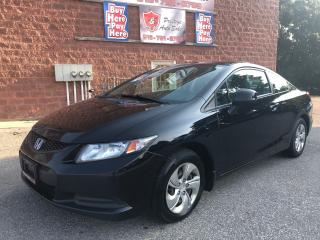 Used 2013 Honda Civic LX/ONE OWNER/NO ACCIDENT/WARRANTY INCLUDED for sale in Cambridge, ON