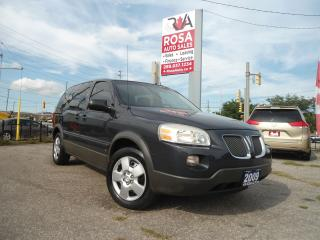 Used 2009 Pontiac Montana SV6 LOW KM 7 PASS AUTO NO ACCIDENT A/C SAFETY for sale in Oakville, ON