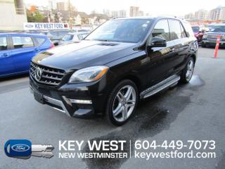 Used 2015 Mercedes-Benz ML-Class ML 550 4MATIC Sunroof Leather Nav Cam for sale in New Westminster, BC