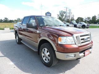 Used 2005 Ford F-150 King Ranch. 4X4. Only 127000 km for sale in Gorrie, ON