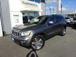 Used 2011 Jeep Grand Cherokee Limited 4WD, Nav, Pano Roof, Leather, Extra Clean! for sale in Langley, BC