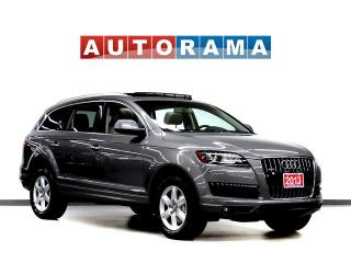 Used 2013 Audi Q7 BACKUP CAM LEATHER PAN SUNROOF 4WD 7 PASS for sale in Toronto, ON