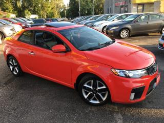 Used 2011 Kia Forte SX LUXURY/ 6 SPEED/ LEATHER/ SUNROOF/ ALLOYS! for sale in Scarborough, ON