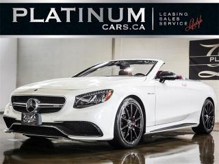 Used 2017 Mercedes-Benz S63 AMG CONVERTIBLE, NAV, 360 CAM, BURNMESTER for sale in Toronto, ON