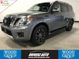 Used 2017 Nissan Armada Platinum ACCIDENT FREE, LOADED WITH REAR DVDs for sale in Calgary, AB