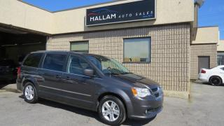 Used 2017 Dodge Grand Caravan Crew Black Leather Interior, Dual AIr & Windows, Back up Camera, Stow and Go Seats for sale in Kingston, ON