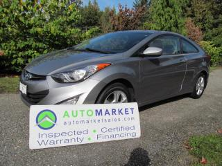Used 2013 Hyundai Elantra SE, COUPE, ROOF, INSP, WARR, FINANCE for sale in Surrey, BC