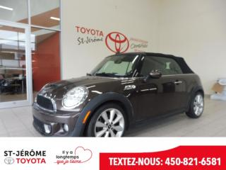 Used 2012 MINI Cooper S Convertible Cuir for sale in Mirabel, QC