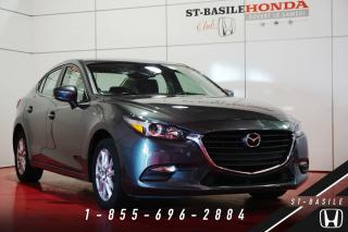 Used 2017 Mazda MAZDA3 GS + VOLANT CUIR + CAMERA + GR ELECTRIQU for sale in St-Basile-le-Grand, QC