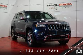 Used 2014 Jeep Grand Cherokee OVERLAND + V6 3.6L + 20'' + NAV + TOIT P for sale in St-Basile-le-Grand, QC