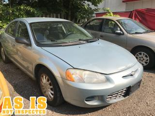 Used 2002 Chrysler Sebring LX   AS IS   NOT INSPECTED for sale in London, ON