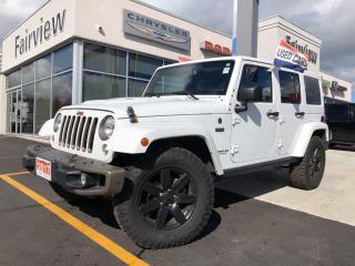 Used 2017 Jeep Wrangler Unlimited Sahara for sale in Burlington, ON