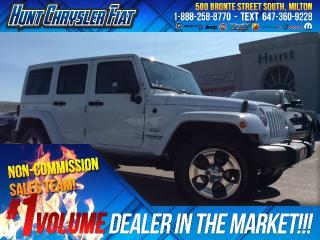 Used 2016 Jeep Wrangler Unlimited SAHARA/DUAL TOP/AUTO/LEATHER & MORE!!! for sale in Milton, ON