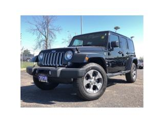 Used 2018 Jeep Wrangler Unlimited Sahara**Bluetooth**6.5 Touchscreen**NAV for sale in Mississauga, ON