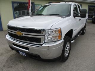 Used 2013 Chevrolet Silverado 2500 3/4 TON WORK READY LT MODEL 6 PASSENGER 6.0L - V8.. 4X4.. EXT-CAB.. SHORTY.. CD/AUX INPUT.. KEYLESS ENTRY.. for sale in Bradford, ON